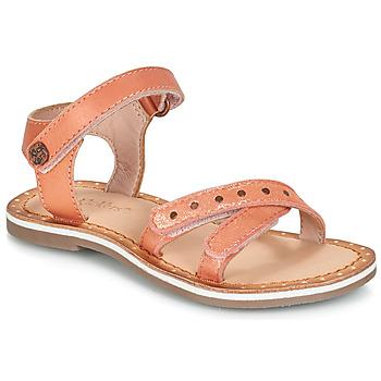 Topánky Dievčatá Sandále Kickers DIDONC Ružová / Metalická