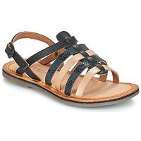 Topánky Dievčatá Sandále Kickers DIXON Čierna / Hadí vzor
