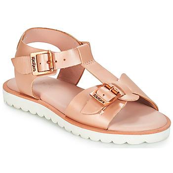 Topánky Dievčatá Sandále Kickers ISABELA Ružová / Metalická