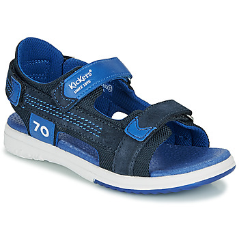 Topánky Chlapci Sandále Kickers PLANE Námornícka modrá