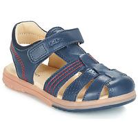 Topánky Chlapci Sandále Kickers PLATINIUM Námornícka modrá