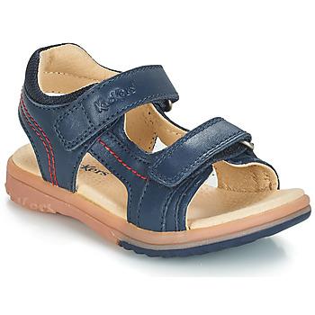 Topánky Chlapci Sandále Kickers PLATINO Námornícka modrá