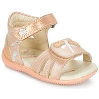 Topánky Dievčatá Sandále Kickers BESHINE Ružová / Metalická
