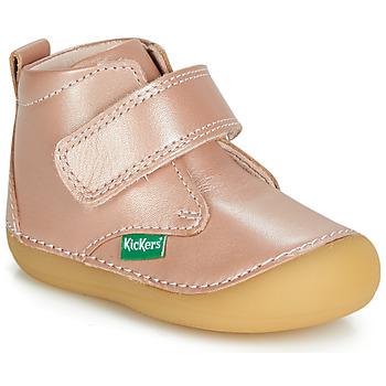 Topánky Chlapci Polokozačky Kickers SABIO Ružová