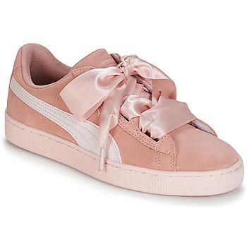 Topánky Dievčatá Nízke tenisky Puma JR SUEDE HEART JEWEL.PEACH Ružová