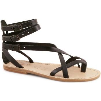 Topánky Ženy Sandále Gianluca - L'artigiano Del Cuoio 564 D NERO LGT-CUOIO nero