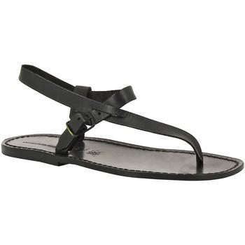 Topánky Muži Sandále Gianluca - L'artigiano Del Cuoio 592 U NERO CUOIO nero