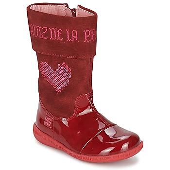 Topánky Dievčatá Čižmy do mesta Agatha Ruiz de la Prada DAFNE červená