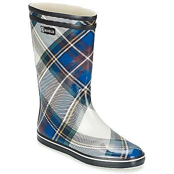 Topánky Ženy Čižmy do dažďa Aigle MALOUINE PRINT Námornícka modrá