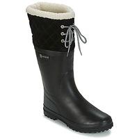 Topánky Ženy Čižmy do dažďa Aigle POLKA GIBOULEE Čierna