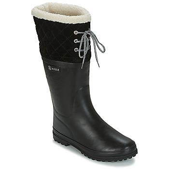 Topánky Ženy Gumaky Aigle POLKA GIBOULEE Čierna
