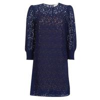 Oblečenie Ženy Krátke šaty MICHAEL Michael Kors BLOUSON SLV LACE DRS Námornícka modrá