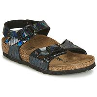Topánky Dievčatá Sandále Birkenstock RIO Čierna