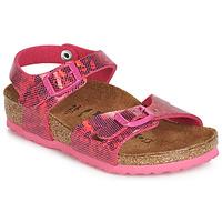 Topánky Dievčatá Sandále Birkenstock RIO Ružová
