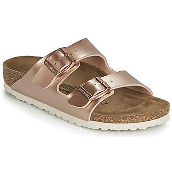 Topánky Dievčatá Šľapky Birkenstock ARIZONA Zlatá