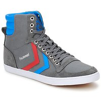 Topánky Členkové tenisky Hummel TEN STAR HIGH CANVAS šedá / Modrá / červená