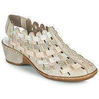 Topánky Ženy Sandále Rieker ROBERTO Strieborná