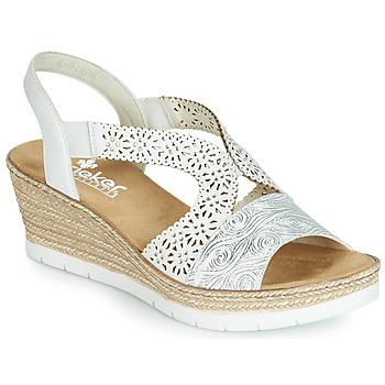 Topánky Ženy Sandále Rieker PASCALINE Biela