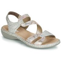 Topánky Ženy Sandále Rieker AMAZU Strieborná