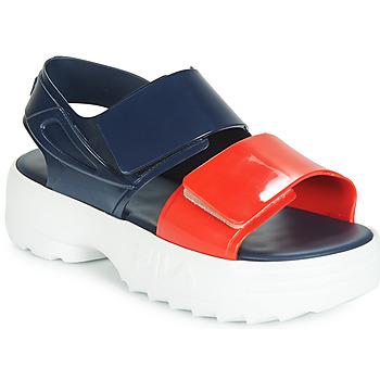 Topánky Ženy Sandále Melissa SANDAL + FILA Námornícka modrá / Červená / Biela