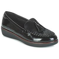 Topánky Ženy Mokasíny FitFlop PAIGE FAUX-PONY Čierna