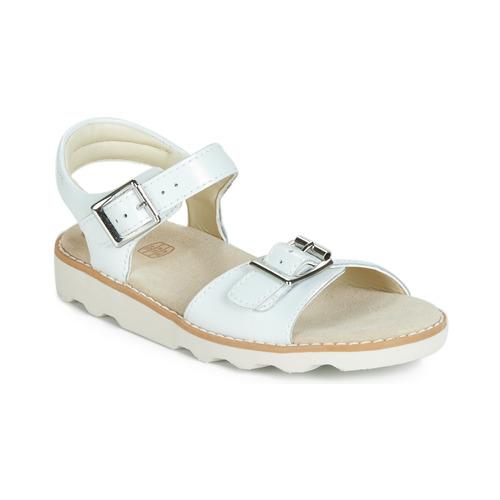 Topánky Dievčatá Sandále Clarks Crown Bloom K Biela