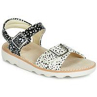 Topánky Dievčatá Sandále Clarks Crown Bloom K Čierna