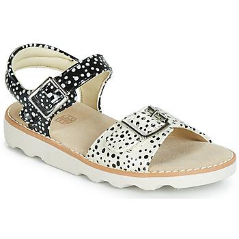 Topánky Dievčatá Sandále Clarks Crown Bloom T Čierna