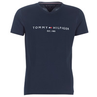 Oblečenie Muži Tričká s krátkym rukávom Tommy Hilfiger TOMMY FLAG HILFIGER TEE Námornícka modrá