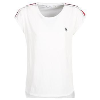 Oblečenie Ženy Tričká s krátkym rukávom U.S Polo Assn. JEWELL TEE SS Biela