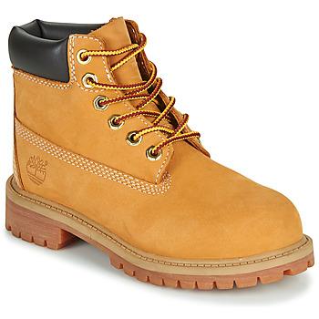 Topánky Chlapci Polokozačky Timberland 6 IN PREMIUM WP BOOT Oranžová koňaková