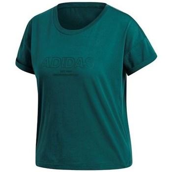 Oblečenie Ženy Tričká s krátkym rukávom adidas Originals Ess Allcap Tee Zelená