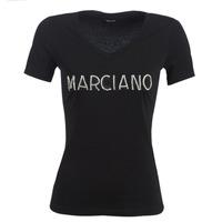 Oblečenie Ženy Tričká s krátkym rukávom Marciano LOGO PATCH CRYSTAL Čierna