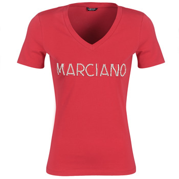Oblečenie Ženy Tričká s krátkym rukávom Marciano LOGO PATCH CRYSTAL Červená