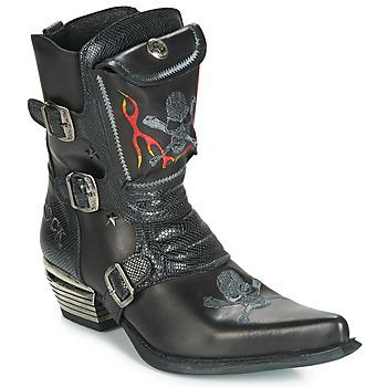 Topánky Muži Čižmy do mesta New Rock M-WST024-S3 Čierna