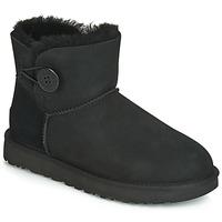 Topánky Ženy Polokozačky UGG MINI BAILEY BUTTON II Čierna
