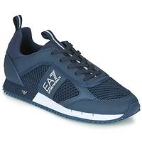 Topánky Muži Nízke tenisky Emporio Armani EA7 BLACK&WHITE LACES U Modrá