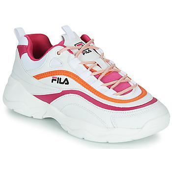 Topánky Ženy Nízke tenisky Fila RAY CB LOW WMN Biela / Ružová / Oranžová