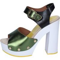 Topánky Ženy Lodičky Suky Brand sandali verde nero pelle BS18 Verde