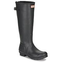 Topánky Ženy Gumaky Hunter ORIGINAL BACK ADJUSTABLE Čierna