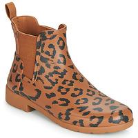 Topánky Ženy Čižmy do dažďa Hunter ORG REFINED CHELSEA HYBRD PRNT Leopard