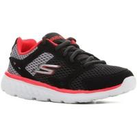 Topánky Deti Bežecká a trailová obuv Skechers Go Run 400 97681L-BGRD black, red, grey