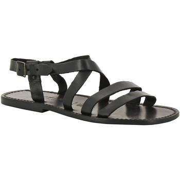 Topánky Muži Sandále Gianluca - L'artigiano Del Cuoio 531 U NERO CUOIO nero