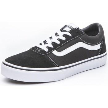 Topánky Deti Nízke tenisky Vans Ward Biela, Čierna
