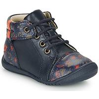 Topánky Dievčatá Polokozačky GBB OLSA Modrá