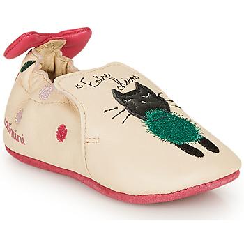 Topánky Dievčatá Papuče Catimini CALICETTE Béžová / Ružová