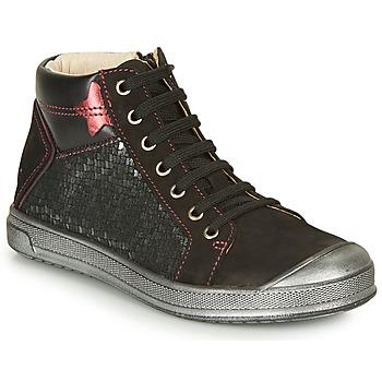 Topánky Dievčatá Členkové tenisky GBB ORENGETTE Čierna / Strieborná
