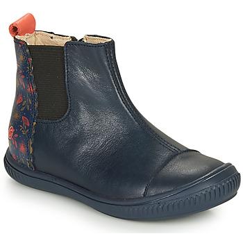 Topánky Dievčatá Polokozačky GBB ONAO Modrá