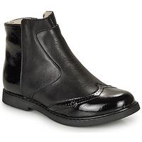 Topánky Dievčatá Polokozačky GBB OURIETTE Čierna
