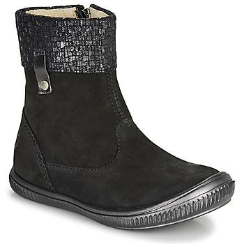 Topánky Dievčatá Polokozačky GBB ORANTO Čierna